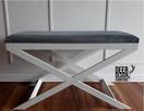 Ławeczka tapicerowana do przedpokoju, stal - 1