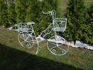 Rower kwietnik ozdoba do ogrodu na taras na balkon - 3