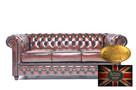 Chesterfield skorzana sofa 3 os Brighton - 1
