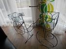 Rower kwietnik ozdoba do ogrodu na taras na balkon - 4