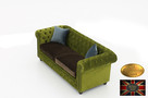 Chesterfield sofa 3 os z zamszu mix rozne kolory - 5