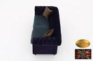 Chesterfield sofa 3 os z zamszu mix - 3