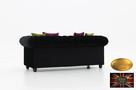 Chesterfield sofa 3 os z zamszu mix - 6
