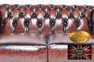 Chesterfield skorzana sofa 3 os Brighton - 4