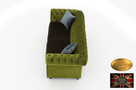 Chesterfield sofa 3 os z zamszu mix rozne kolory - 4
