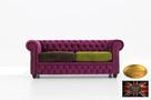 Chesterfield sofa 3 os z zamszu rozne kolory - 1