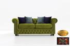 Chesterfield sofa 3 os z zamszu kolorowa
