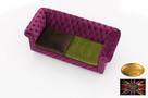 Chesterfield sofa 3 os z zamszu rozne kolory - 5