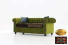 Chesterfield sofa 3 os z zamszu mix rozne kolory - 2
