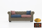 Chesterfield sofa 3 osobowa z materialu rozne kolory