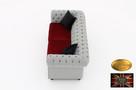 Chesterfield sofa 3 osobowa z materialu rozne kolory - 5