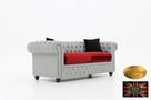 Chesterfield sofa 3 osobowa z materialu rozne kolory - 4