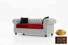 Chesterfield sofa 3 osobowa z materialu rozne kolory - 2