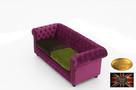 Chesterfield sofa 3 os z zamszu rozne kolory - 6
