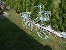 Rower kwietnik ozdoba do ogrodu na taras na balkon - 2