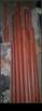 Słupki ogrodzeniowe 11 szt ;  2,80cm + pręty na drut ; fi 75 - 2
