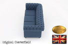 Chesterfield sofa Brighton Pitch z materialu - 4