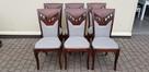 Krzesło eleganckie klasyczne tapicerowane nowe wygodne