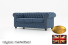 Chesterfield sofa Brighton Pitch z materialu - 2