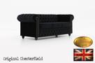 Chesterfield sofa z zamszu Fluweel 3 os - 4