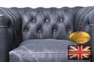 Chesterfield fotel 1 os Vintage czern Skora - 2