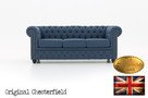 Chesterfield sofa Brighton Pitch z materialu - 1