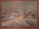 Zima obraz olejny autor nieznany