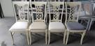 Piękne krzesło tapicerowane modne klasyczne Producent nowe - 4