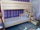 Łóżko piętrowe dla dzieci ze schodkami, LITE DREWNO!