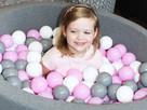 Dziecięcy basen wypełniony piłeczkami SUCHY BASEN bawełniany