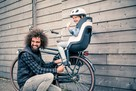 Bobike fotelik rowerowy GO na bagażnik PINK + kask