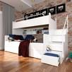 Łóżko piętrowe JIM 3 osobowe z materacami 6 kolorów połysk