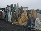Monolit szpilki stalagmity solitery ogrodowe kamienie