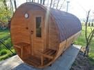 Jedyna taka Sauna Ogrodowa Beczka 250 Komplet Impregnacja - 4