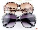 Eleganckie damskie okulary z etui.