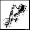 obraz do salonu SAKSOFONISTA jazzowy - 1