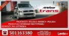 SEBO-TRANS przewozy Polska-Niemcy