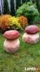 Drewniane grzybki do ogrodu Myślenice
