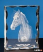 Koń 3D wygrawerowany w krysztale- prezent dla taty Bydgoszcz