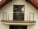 Balustrady, poręcze, balkony ze stali nierdzewnej
