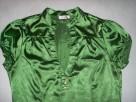 ORSAY koszula bluzka zieleń stójka Satyna 40 L - 2