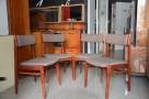 Krzesła drewniane tapicerowane,Krzesło PRL 4 szt, fotele PRL - 3