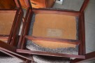 Krzesła drewniane tapicerowane,Krzesło PRL 4 szt, fotele PRL - 6