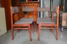 Krzesła drewniane tapicerowane,Krzesło PRL 4 szt, fotele PRL - 2