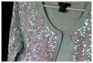Bolerko H&M rozmiar 34 36 kolor pistacjowy cekiny - 2