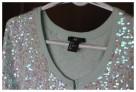 Bolerko H&M rozmiar 34 36 kolor pistacjowy cekiny - 1