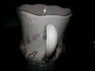 Filizanka kubek porcelana rozowa - 2