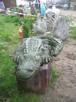 Krokodyl figurka oczko wodne fontanna rzeźba - 3