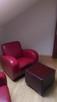 Sprzedam dwa fotele skórzane , czerwone - 2