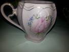 Filizanka -kubek porcelana rozowa